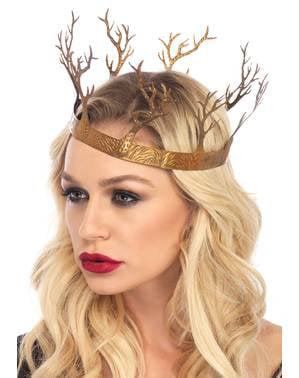 Corona da regina del bosco per adulto