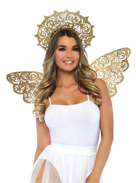 Kit de ángel dorado para mujer