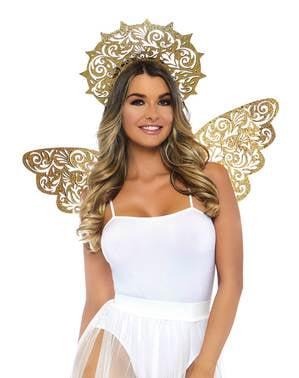 Kit de anjo dourado para mulher