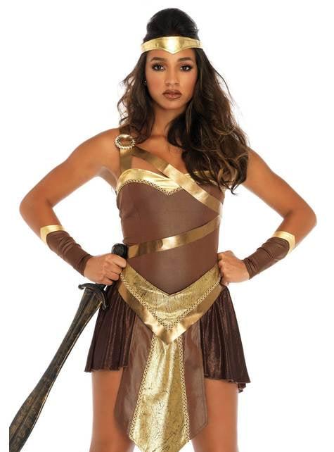 Gold gladiator costume for women