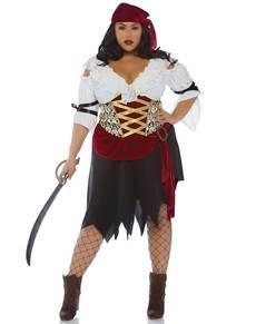 6bdd140a6a0 Disfraz de pirata sexy para mujer talla grande