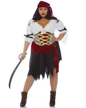 Costume da pirata sexy per donna taglie forti