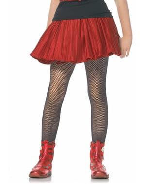 Black fishnet tights for girls