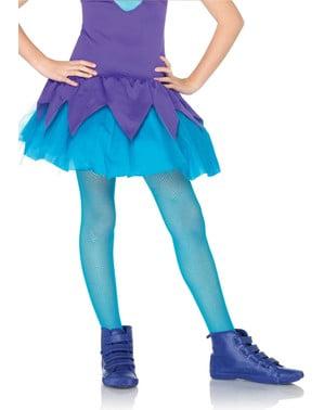 Blue fishnet tights for girls