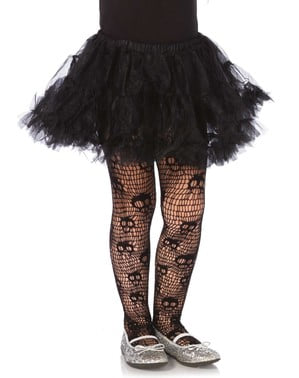Screaming skeletons tights for girls