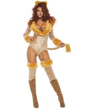 Sexy løve kostyme til dame