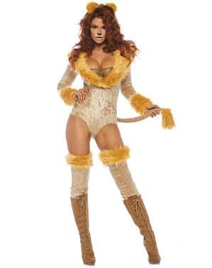 Sexy Löwen Kostüm für Damen