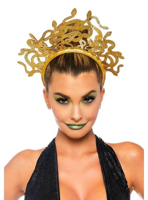 Bandolete de medusa dourada para mulher