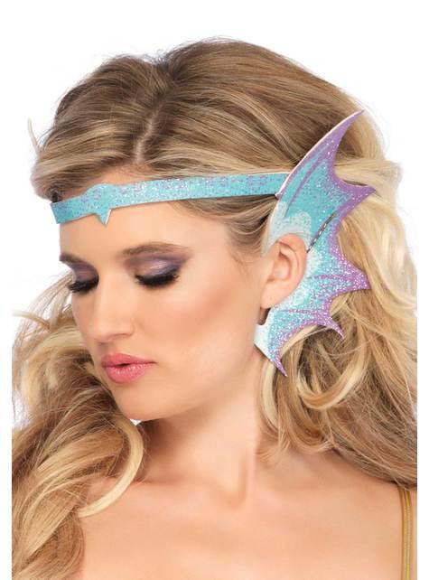 Acessório para orelha de sereia azul