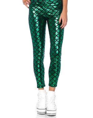 Grønne havfrue leggings til piger