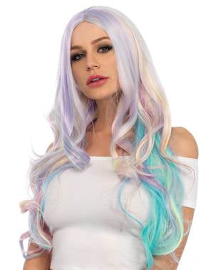 Purple unicorn wig for women
