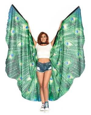 Giant peacock wings for women