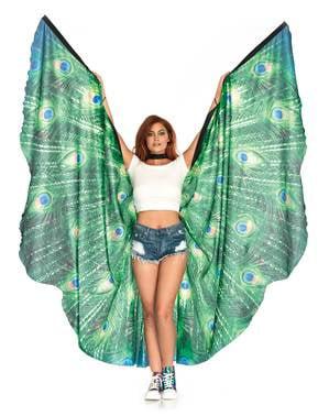 Gigantische pauw vleugels voor vrouw