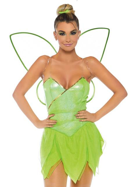 Disfraz de Campanilla del bosque sexy para mujer