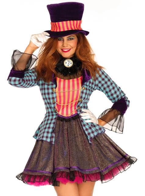 Disfraz de sombrerero sexy para mujer