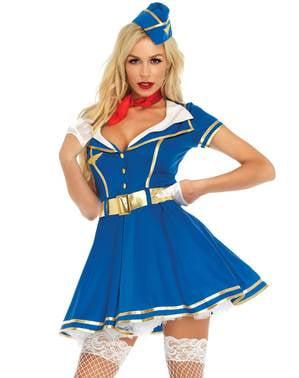 Costum de stewardesă sexy pentru femeie