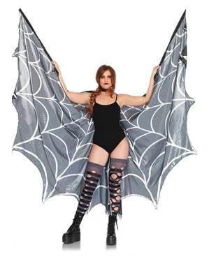 Asas de teia de aranha gigantes para mulher