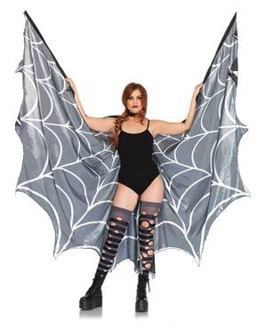 Gigantisk edderkopp spindelvev vinger til dame