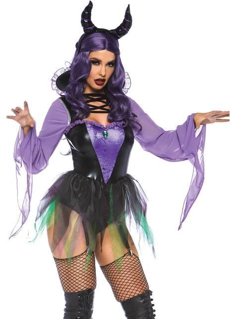 Disfraz de villana maléfica sexy para mujer
