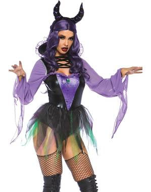 Sexy maleficent villain costume for women