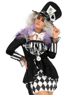Disfraz de sombrerera del país maravilloso para mujer
