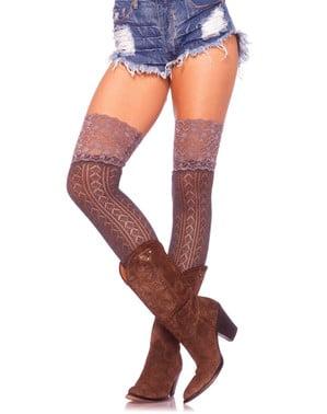 Crochet stockings for women