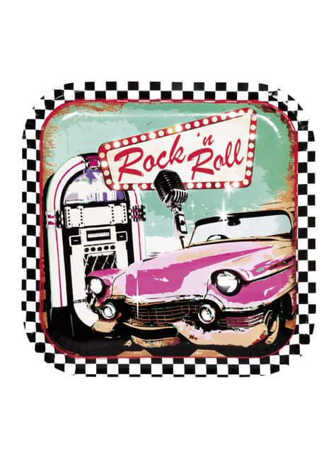 6 platos Rock 'n Roll (23 cm)