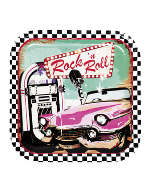 6 Rock 'n Roll borden (23 cm)