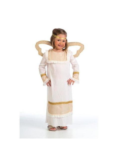 Gold angel costume for girls