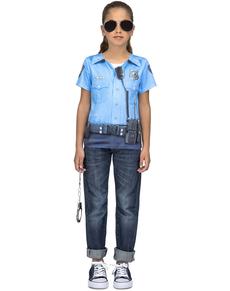 Camiseta de policía infantil