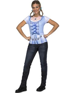 T-shirt de lady oktoberfest para mulher