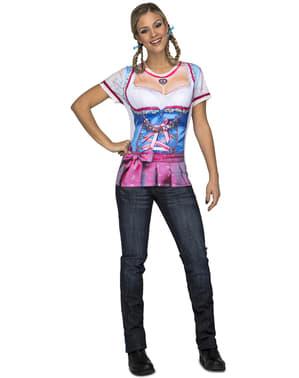 T-shirt de tirolesa sexy para mulher