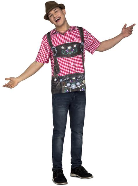 Camiseta de tirolés oktoberfest para hombre