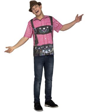 Tyrolsk Oktoberfest T-Skjorte til menn