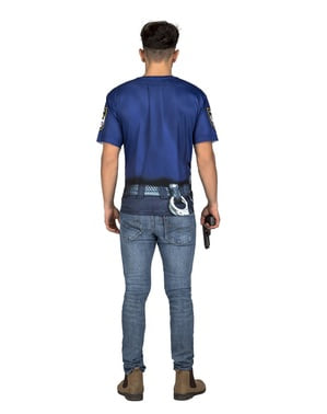 T-shirt policier sexy homme