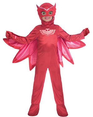 Kostum Owlette Deluxe untuk kanak-kanak perempuan PJ Masks