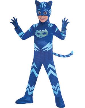 Costum Pisoi PJ Masks deluxe pentru băiat