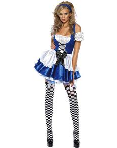 Déguisement de la merveilleuse Alice Fever pour femme