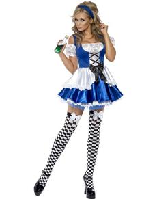 Disfraz de maravillosa Alicia Fever para mujer