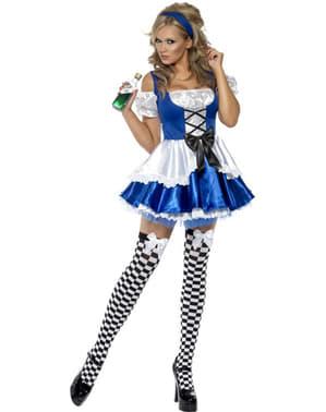 Лихоманка сенсаційна Аліса в країні чудес Жінка-дорослий костюм