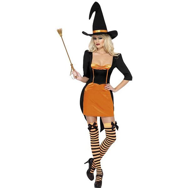 Disfraz de bruja calabaza fever para mujer halloween