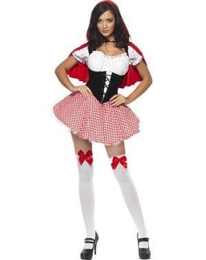 קדחת Sweet Red Riding Hood למבוגרים תלבושות