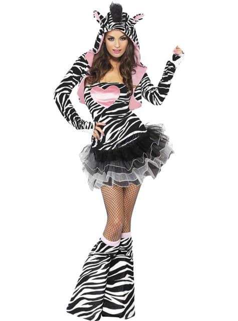 Fato de zebra fashion para mulher