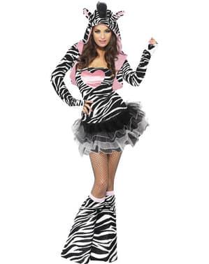 Disfraz de cebra fashion para mujer