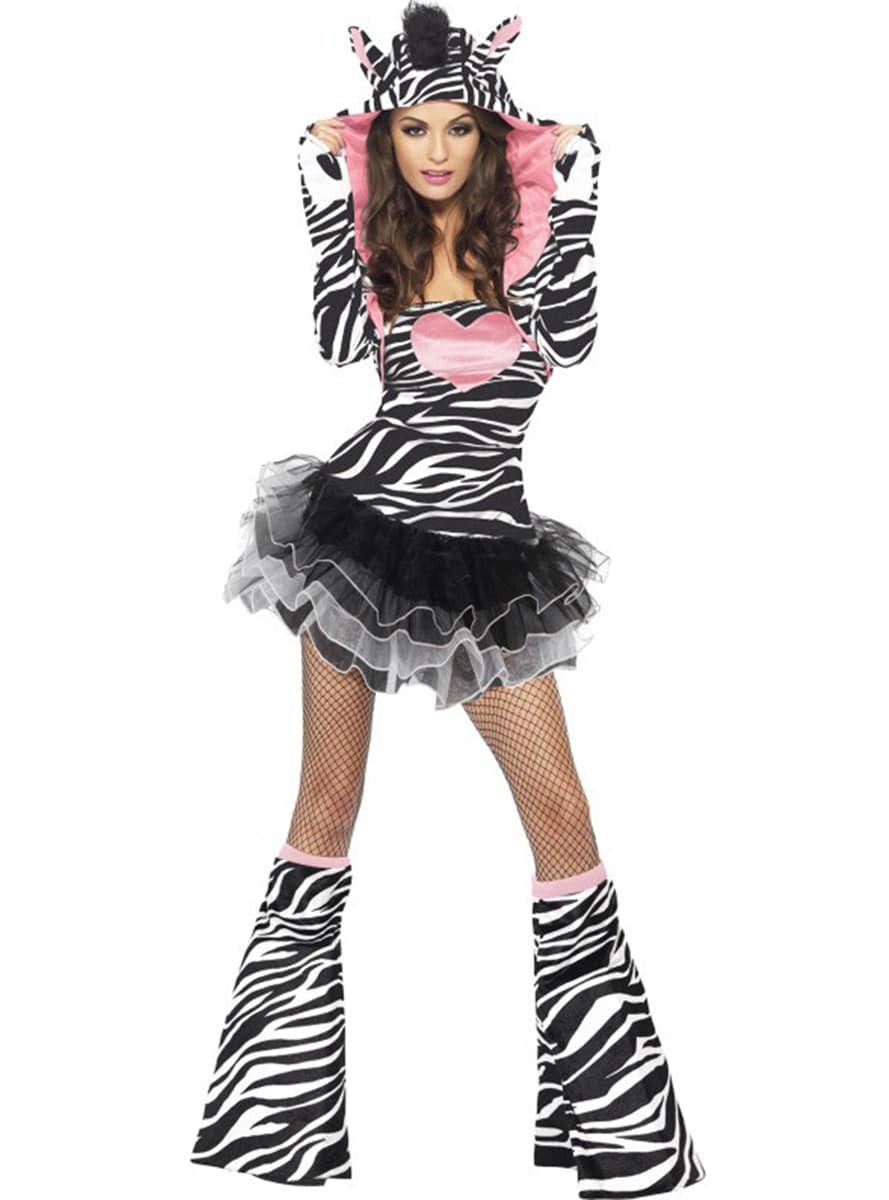 fashion zebra kost m f r damen funidelia. Black Bedroom Furniture Sets. Home Design Ideas