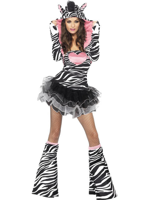 Disfraz de cebra fashion para mujer - mujer
