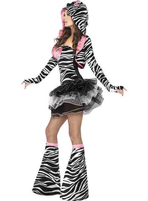 Zebra Fashionista Maskeraddräkt Vuxen