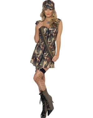 תלבושות למבוגרים צבאיות Fever מיס