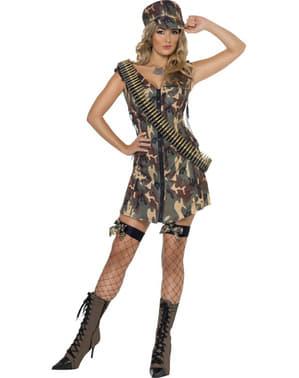 Dámská kostým miss armáda