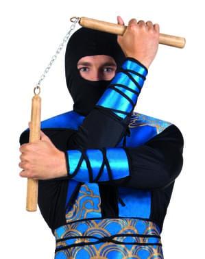Nunchaku de ninja marron